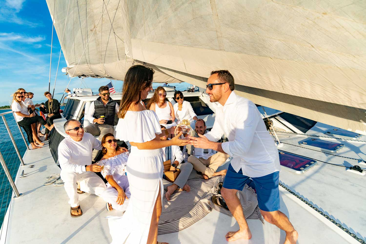 Key West Sail Boat Wedding